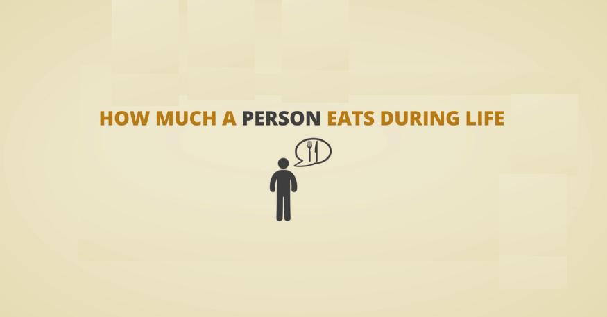 How Much A Person Eats During Life